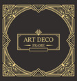 art deco border and frame template creative vector image