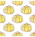 autumn pattern with pumpkins vector image vector image