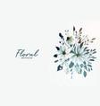 beautiful watercolor floral flower decorative vector image vector image