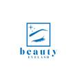 beauty eyelash logo design vector image vector image