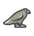 black raven crow icon cartoon vector image