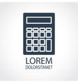Calculator dark flat icon vector image vector image