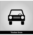 Car icon on grey background vector image