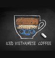 chalked sketch iced vietnamese coffee vector image vector image