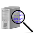 Computer search vector image