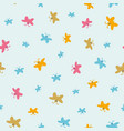 cute colorful butterflies seamless pattern vector image vector image