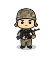 Cute soldier army