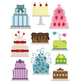 decorated cakes vector image vector image