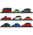 Different type of cars vector image vector image