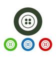 dress button icon vector image