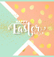 easter card with calligraphic greeting vector image