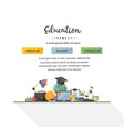 eduation concept design one vector image vector image