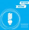 energy saving light bulb icon on a blue vector image