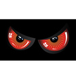 Evil red eyes vector image vector image