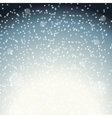 Falling Shining Snowflakes and Snow on Blue vector image vector image