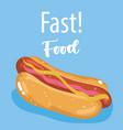 fast food menu restaurant unhealthy poster hand vector image
