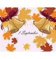First Bell call autumn background vector image vector image