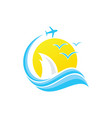 flight summer vector image