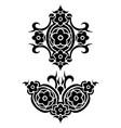 flowers tribal tattoo set vector image vector image