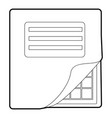 Folder with table excel icon outline style