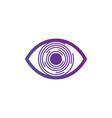 futuristic retina futuristic circles eye vector image
