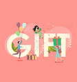 gift concept flat style design vector image