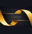 golden ribbon background vector image vector image