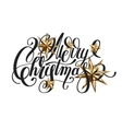 golden stars and handwritten lettering vector image vector image