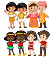 happy children from different countries vector image vector image
