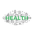 health concept with icons and signs vector image