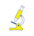 icon of school microscope vector image