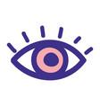 isolated pink eye design vector image