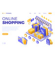 Isometric online internet shopping