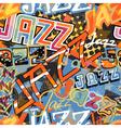 Jazz tile vector image vector image
