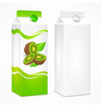 kiwi juice package vector image vector image