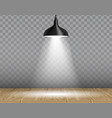 lamp over table realistic vector image vector image