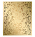 light gold background with spring branches vector image