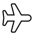 line airplane icon vector image vector image