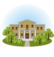 manor house in spring landscape vector image