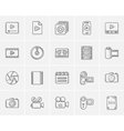 Media sketch icon set
