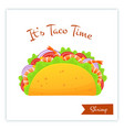 mexican cuisine shrimp tacos food banner vector image