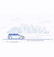 modern car in the city vector image