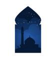 mosque arabian window view design vector image vector image