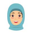 muslim woman avatar character vector image