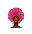 nigerian turban portrait african american woman vector image vector image