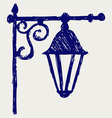 Old lamp vector image vector image