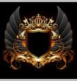 Ornamental heraldic shield highly realistic