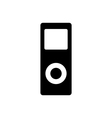 Portable media player icon flat design style vector image