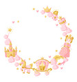 princess party items frame vector image vector image