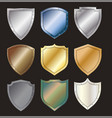 protected steel shield steel icon sign set layout vector image